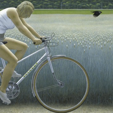 Colville-CyclistAndCrow